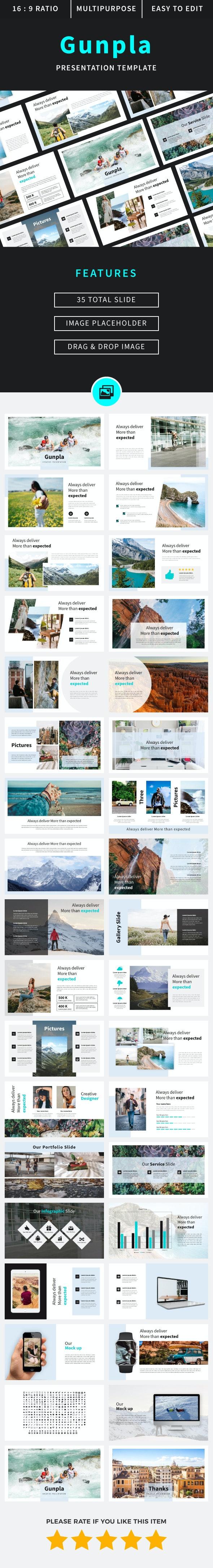 Gunpla - Google Slide - Google Slides Presentation Templates