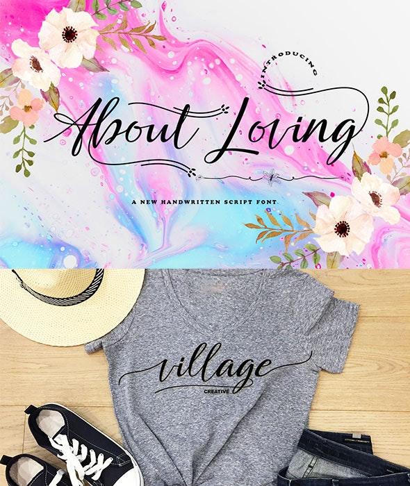 About Loving - Script Fonts