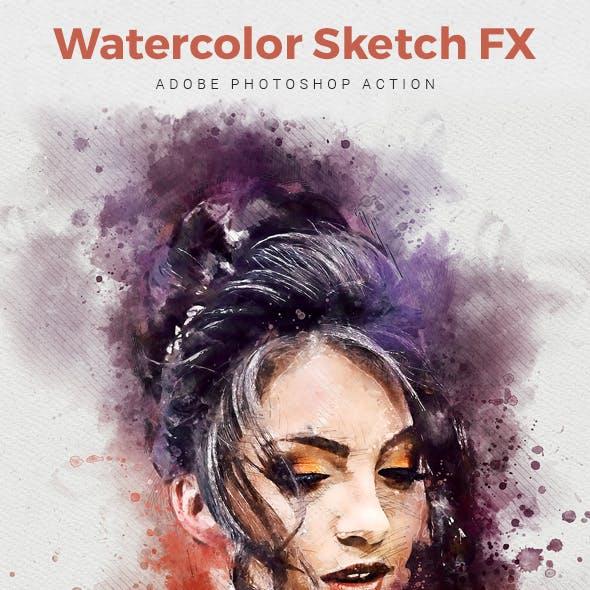 Watercolor Sketch FX - Photoshop Action