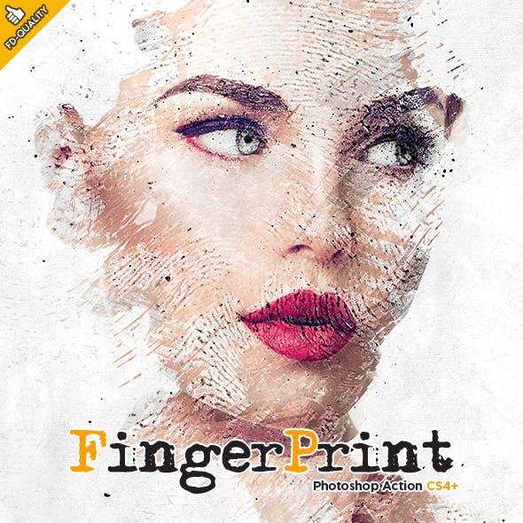 Fingerprint CS4+ Photoshop Action