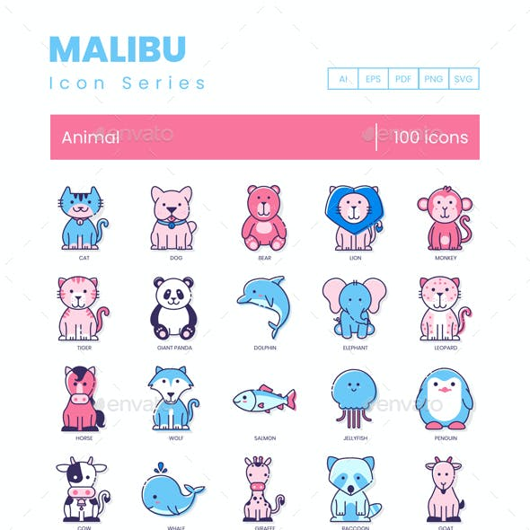 Animal Icons - Malibu Series