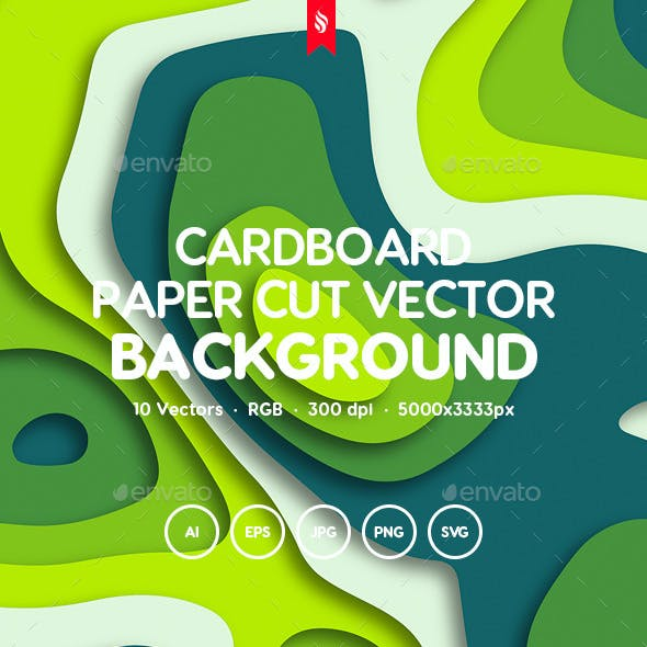 Colorful Cardboard Paper Cut Vector Backgrounds