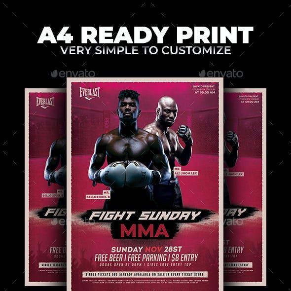 Fight Sunday MMA Flyer