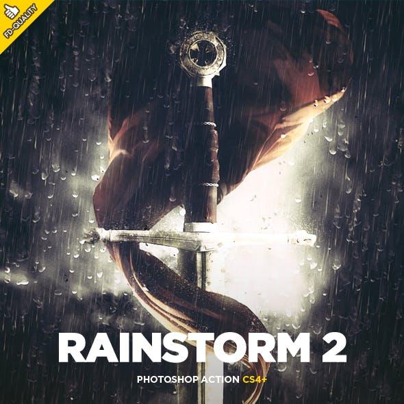 Rainstorm 2 CS4+ Photoshop Action