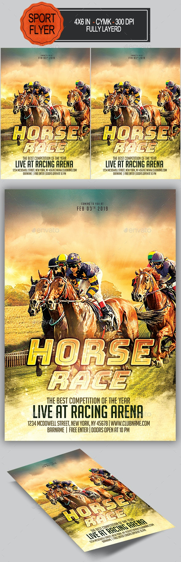 Derby Horse Flyer - Sports Events