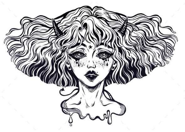 Banshee Portrait of the Crying Demon Folklore - Miscellaneous Characters