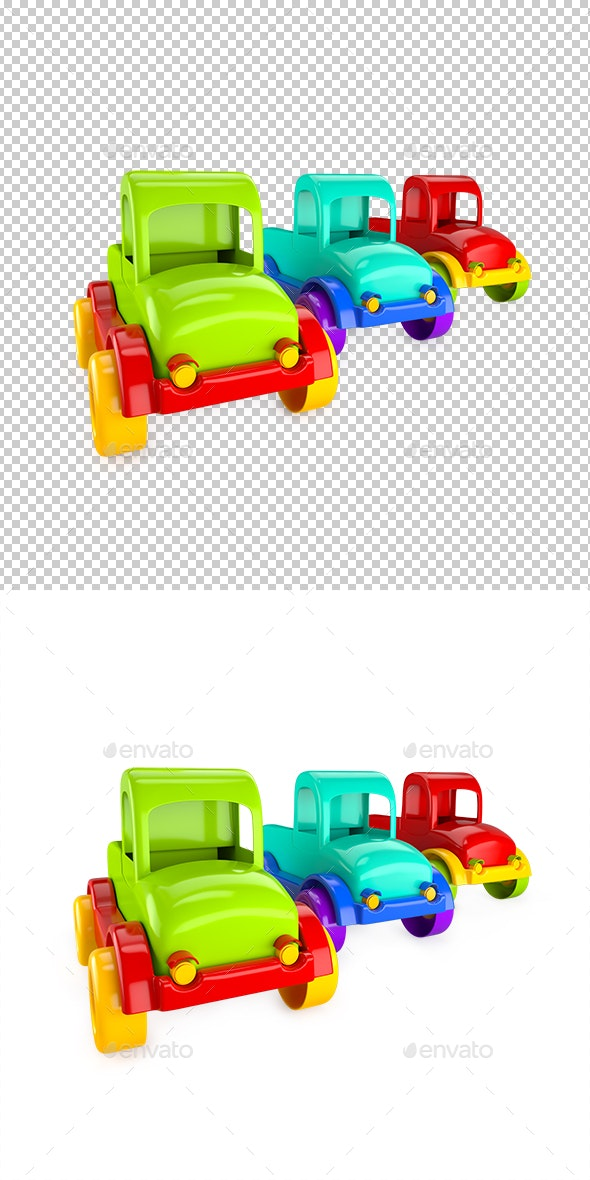 Car Toy Trucks - Objects 3D Renders