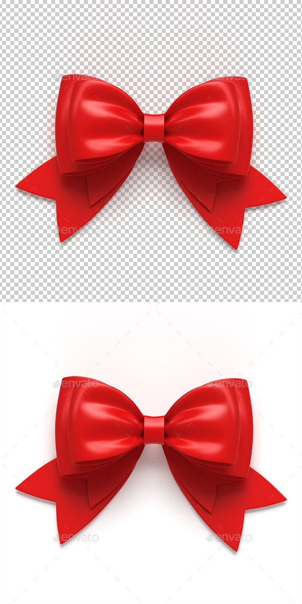 Ribbon Gift Bow - Objects 3D Renders