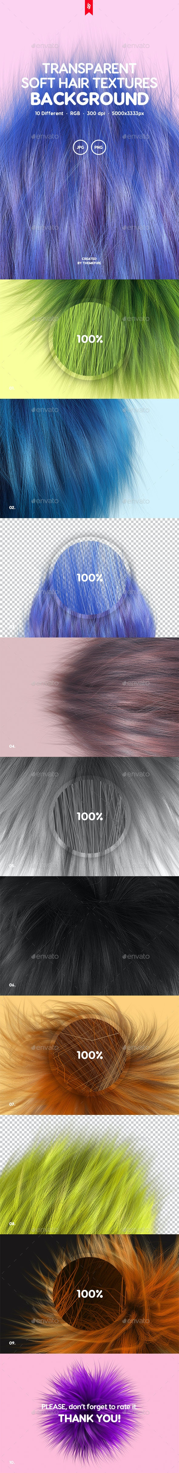 10 Transparent Soft Hair Backgrounds - Backgrounds Graphics