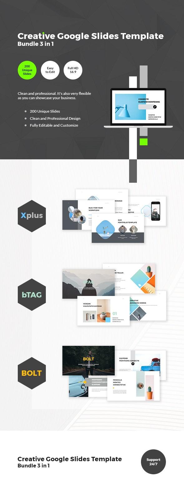 Creative Google Slides Template Bundle 3 in 1 - Google Slides Presentation Templates