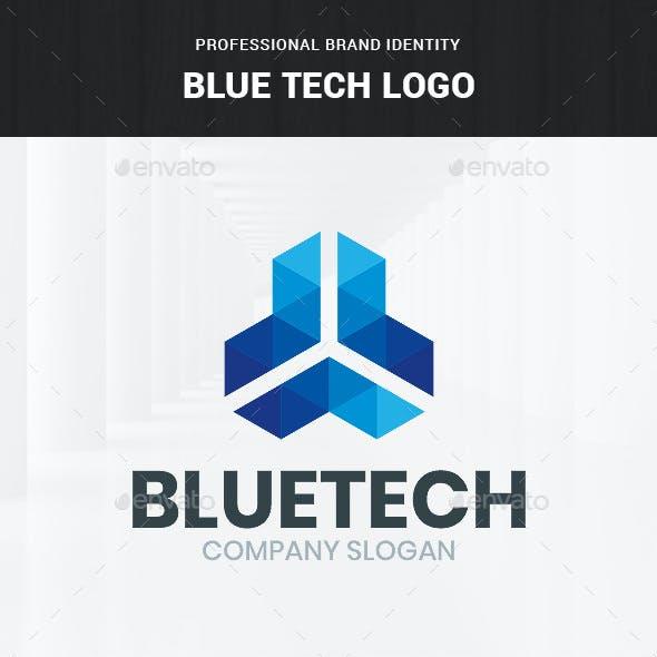 Blue Tech Logo Template