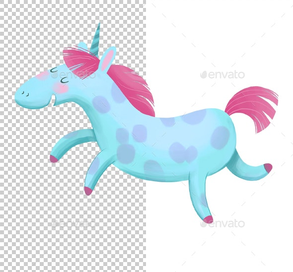 Cartoon Unicorn - Characters Illustrations