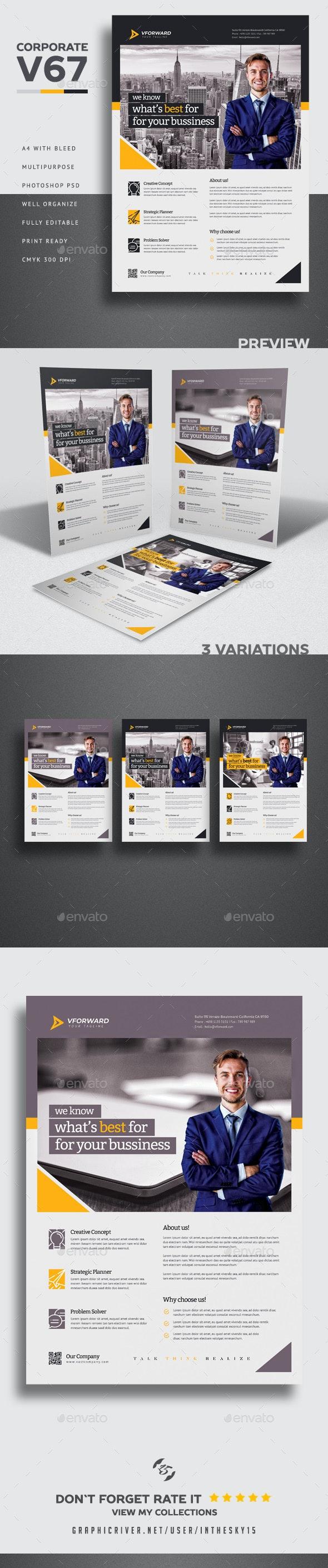 Corporate V67 Flyer - Corporate Brochures