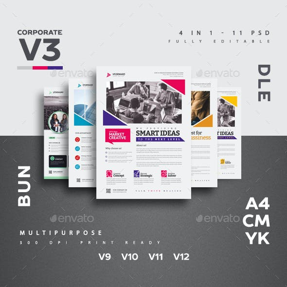 Corporate V3 Flyer Bundle
