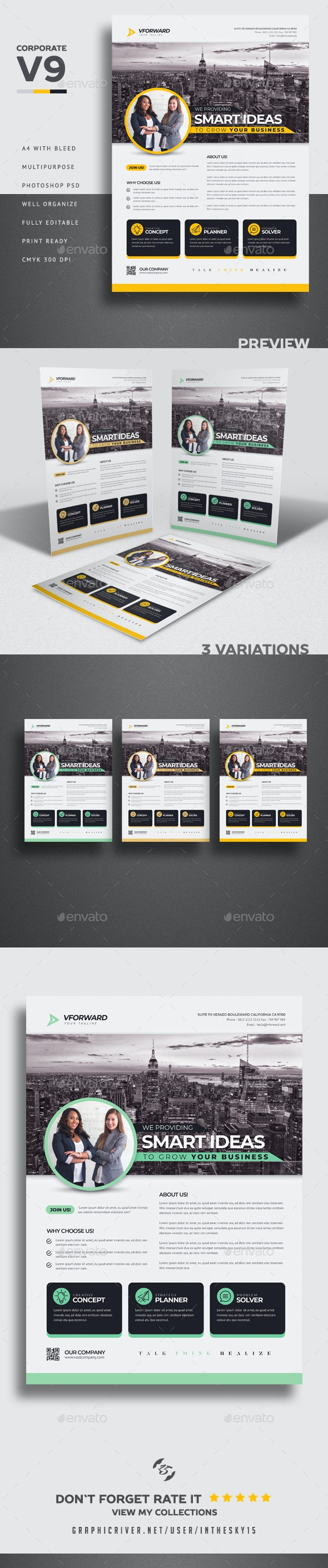 Corporate V9 Flyer - Corporate Flyers