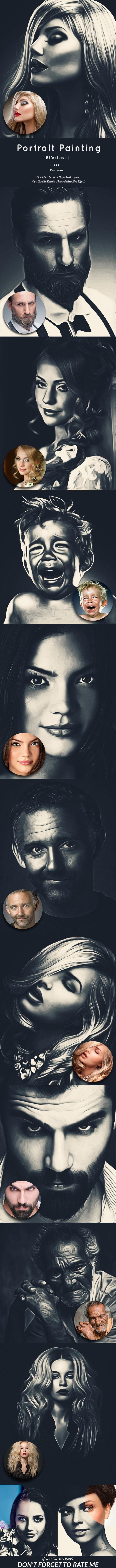 Portrait Painting Effect_vol-1 - Photo Effects Actions