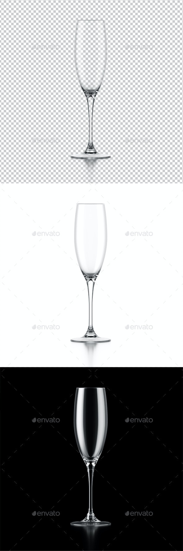 Champagne Glass - Objects 3D Renders