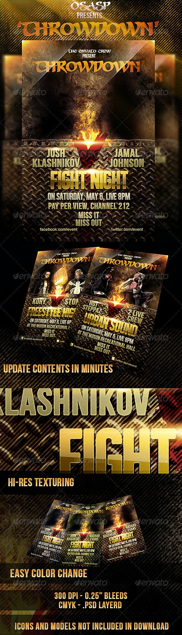Throwdown Flyer Template - Sports Events