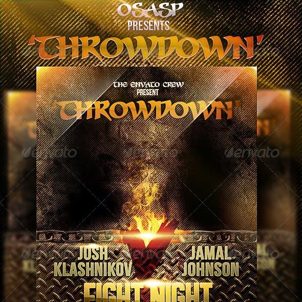 Throwdown Flyer Template