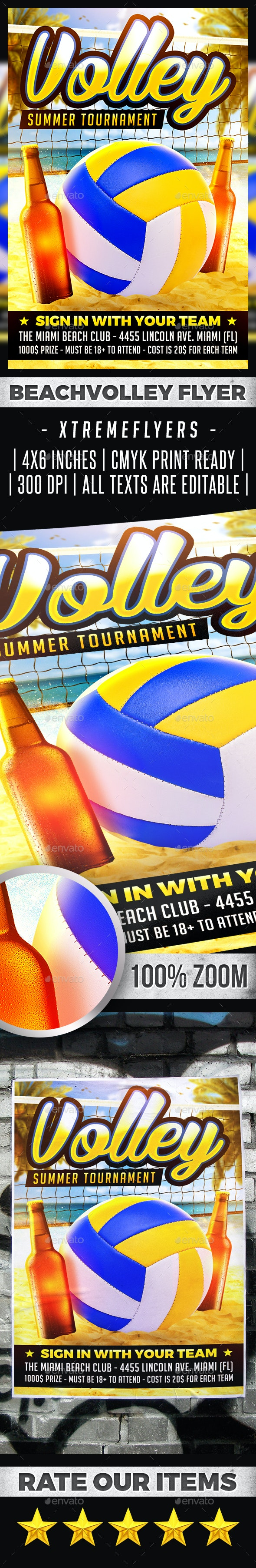 Beach Volleyball Flyer - Sports Events