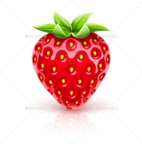 Ripe Red Strawberry - Food Objects