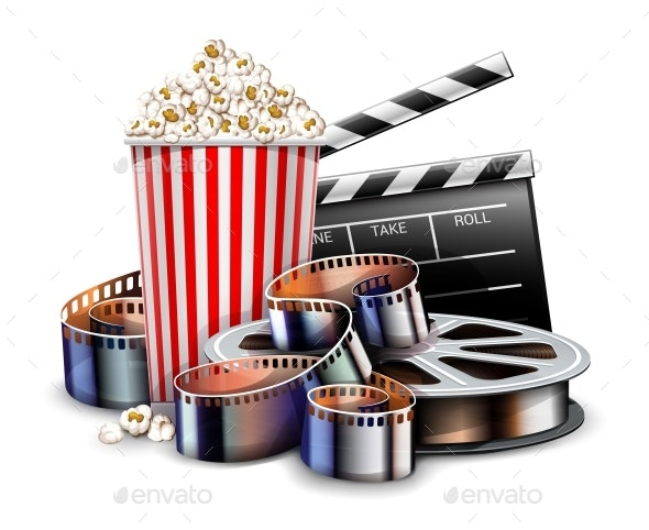 Online Cinema Art Movie Watching with Popcorn - Man-made Objects Objects