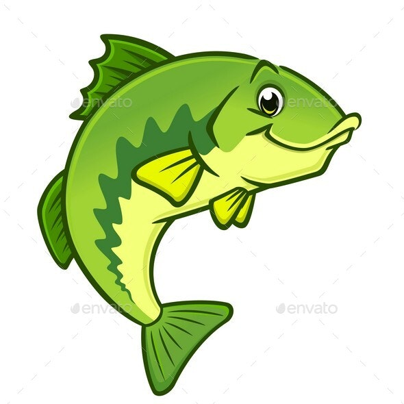 Cartoon Largemouth Bass - Animals Characters