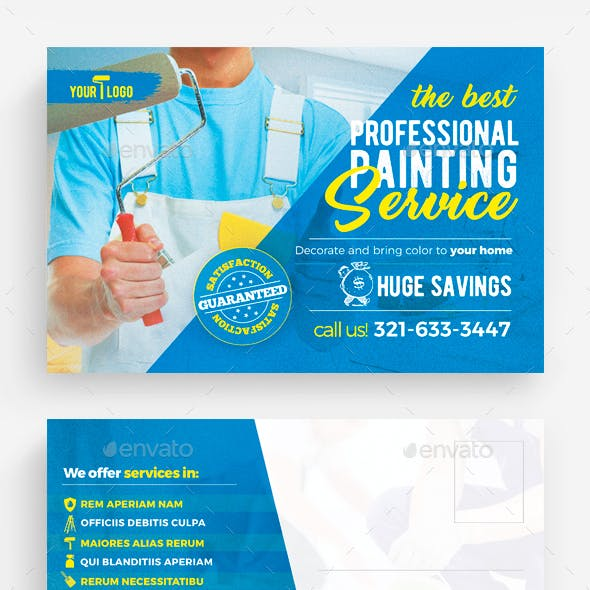 Painting Services Postcard Template