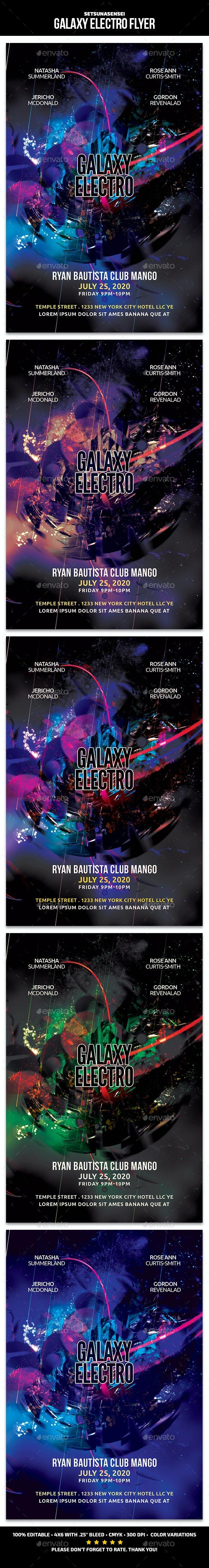 Galaxy Electro Flyer - Events Flyers