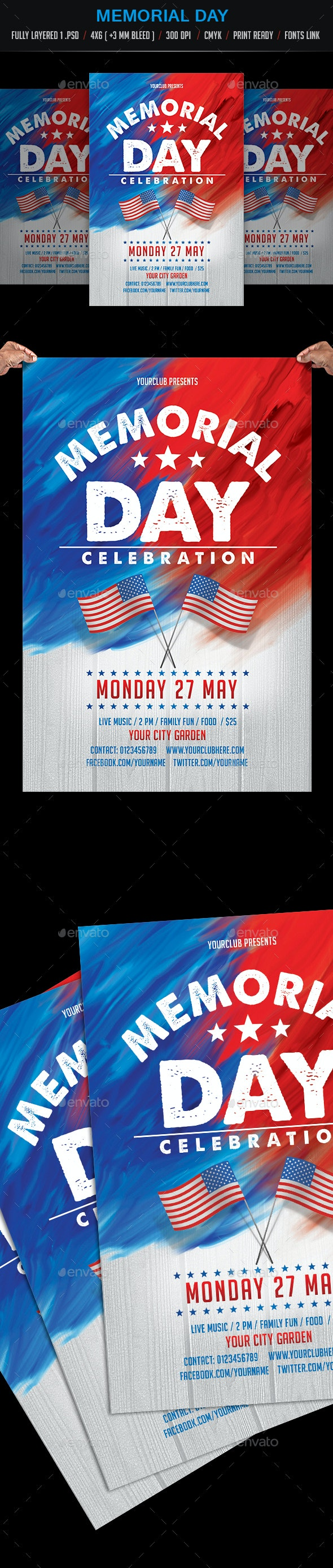 Memorial Day Celebration - Events Flyers