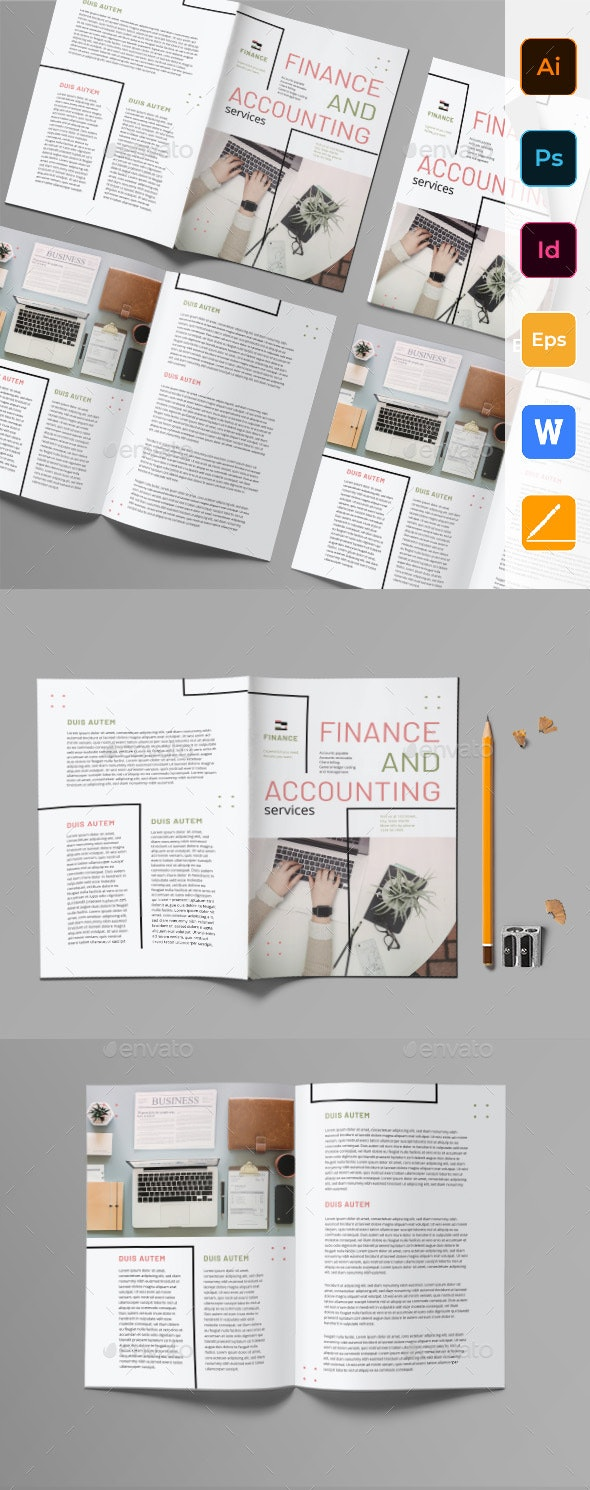Finance and Accounting Bifold Brochure - Corporate Brochures