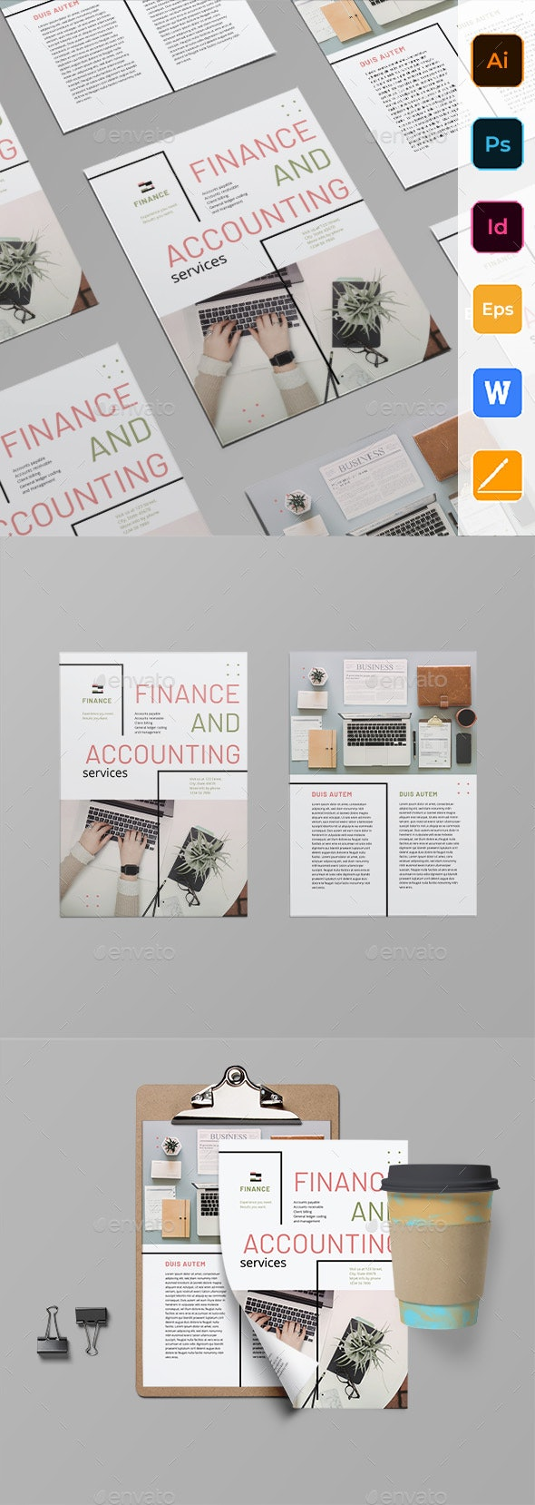 Finance and Accounting Flyer - Corporate Flyers