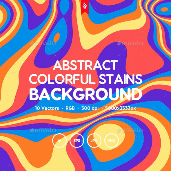 Abstract Colorful Stains. Funny Kids Vector Backgrounds