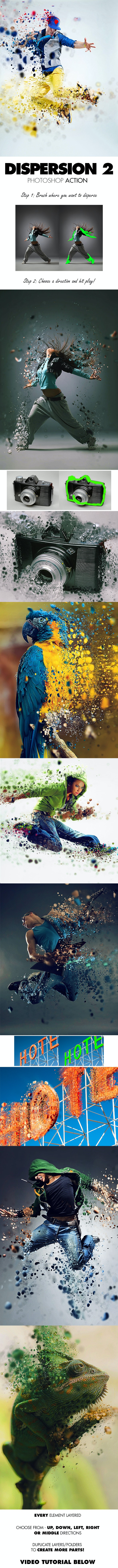 Dispersion 2 Photoshop Action - Photo Effects Actions