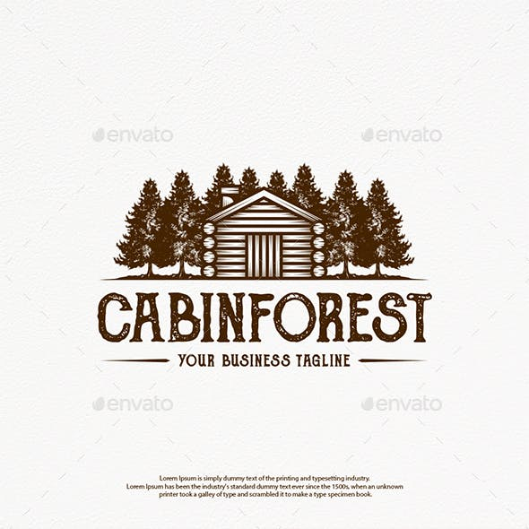 Wood House Logo Template