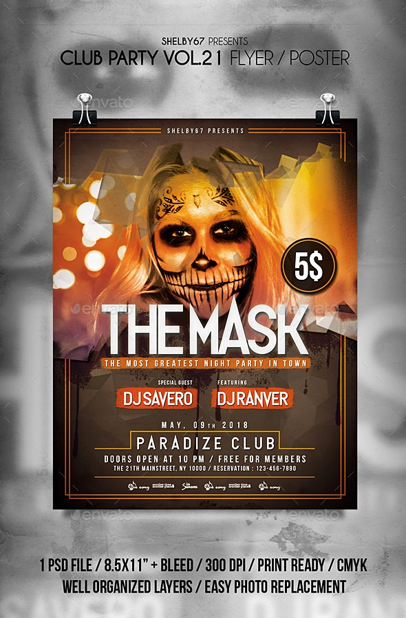 Club Party Flyer / Poster Vol 21 - Clubs & Parties Events