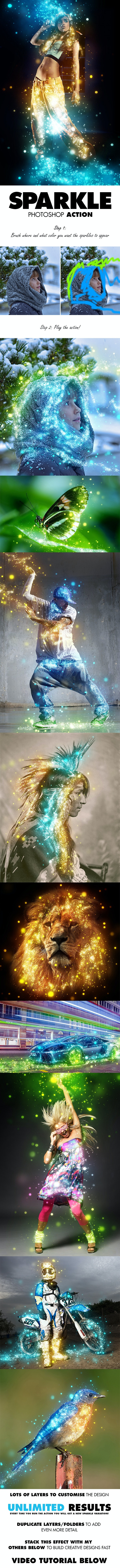 Sparkle Photoshop Action - Photo Effects Actions