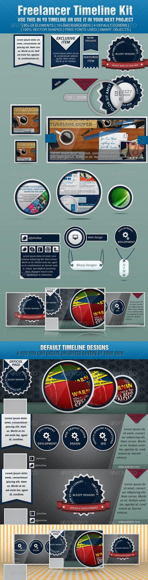 Freelancer Timeline Kit - Facebook Timeline Covers Social Media