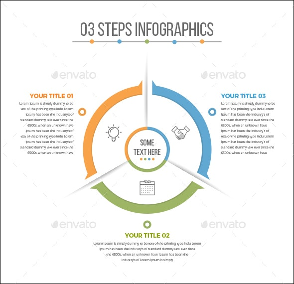 Business Circle Infographics with 03 Steps - Infographics