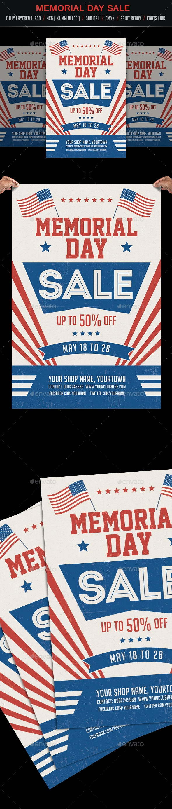 Memorial Day / Labor Day Sale - Events Flyers