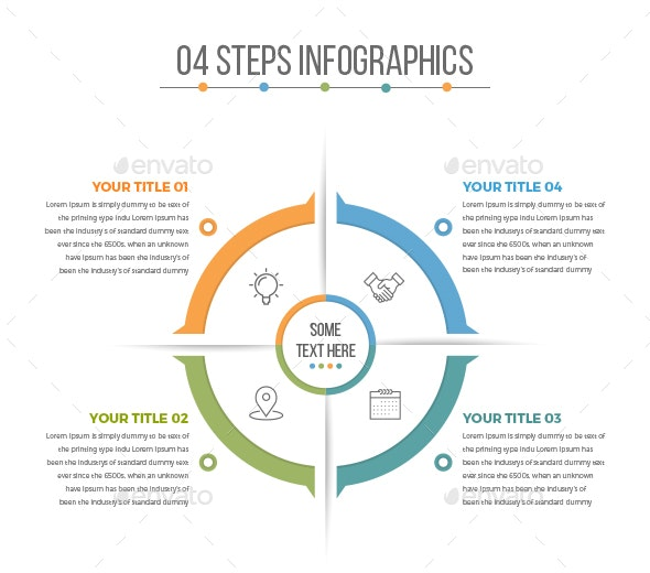 Business Circle Infographics with 04 Steps - Infographics