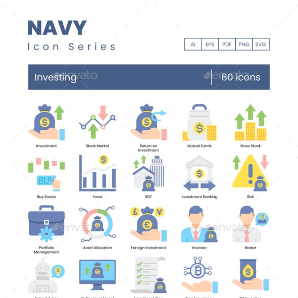 Investing Icons - Navy Series