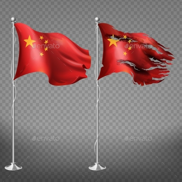 People s Republic of China New and Damaged Flags - Man-made Objects Objects