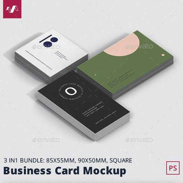 Business Card Mockup Bundle Stack