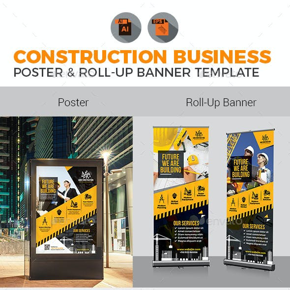 Construction Poster with Rollup Bundle