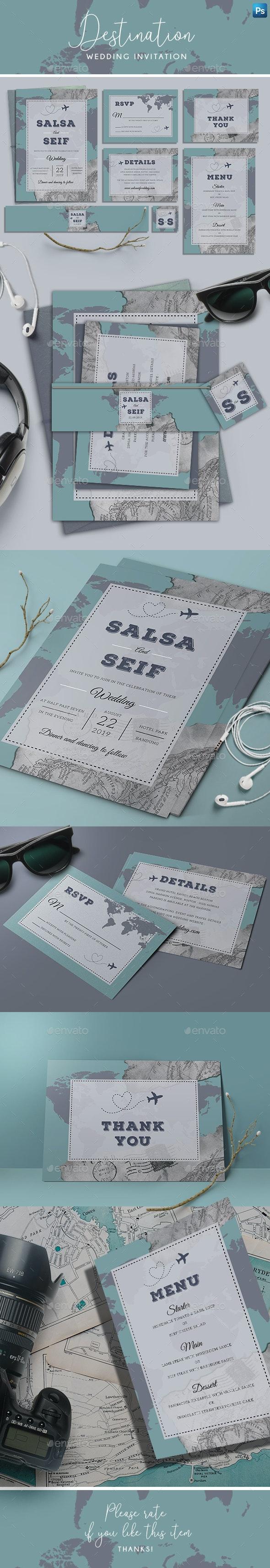 Destination Wedding Invitation - Weddings Cards & Invites