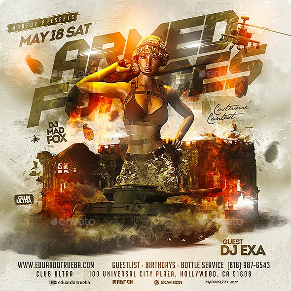 Armed Forces Day Party Flyer