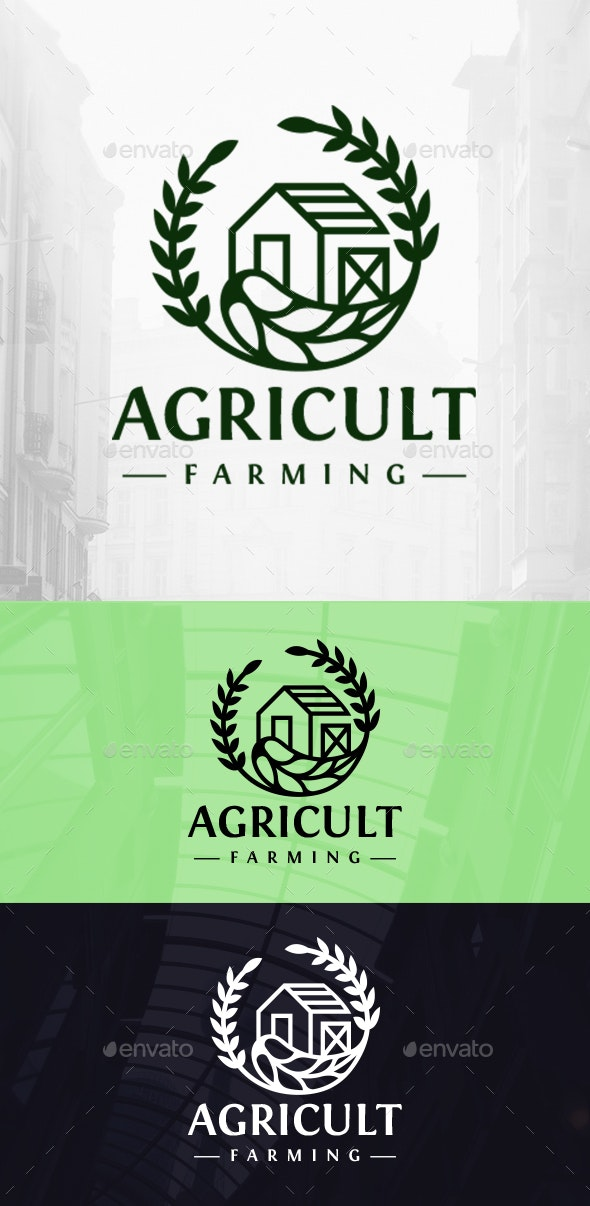 Green Farm Logo - Buildings Logo Templates