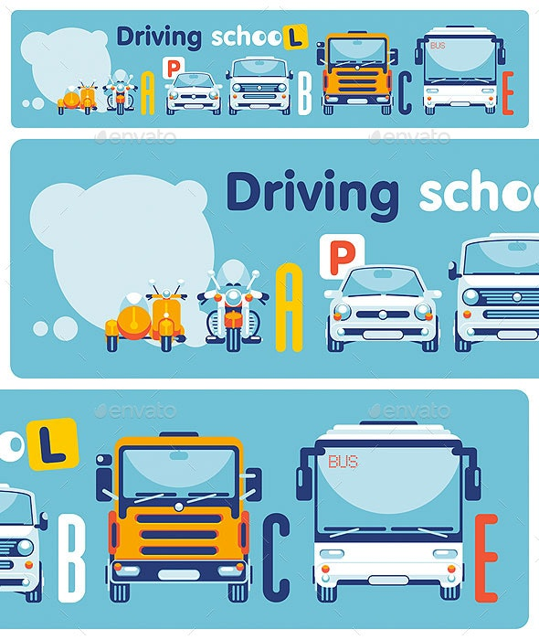 Driving School on Categories of Transport - Concepts Business