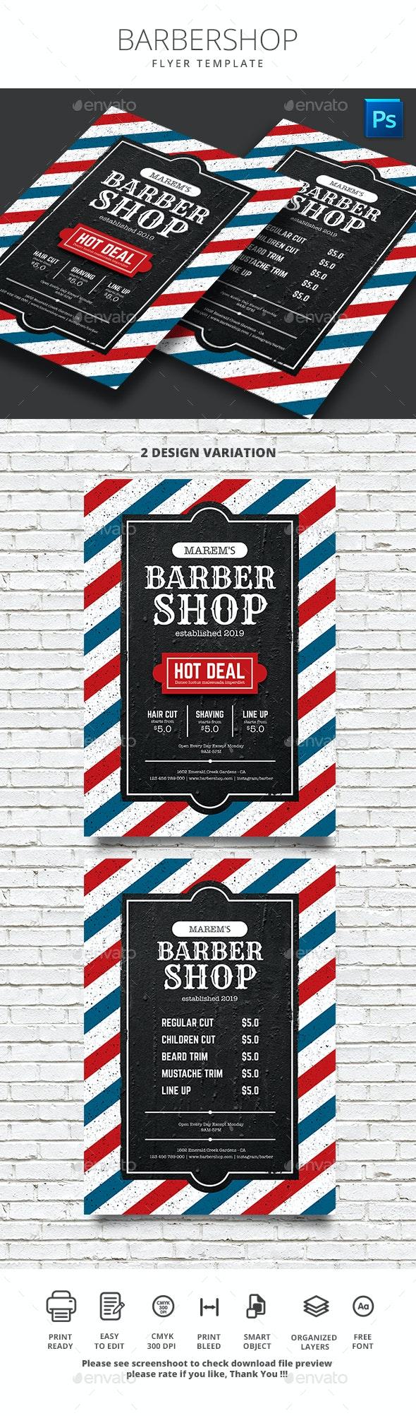 Barber Shop - Flyers Print Templates